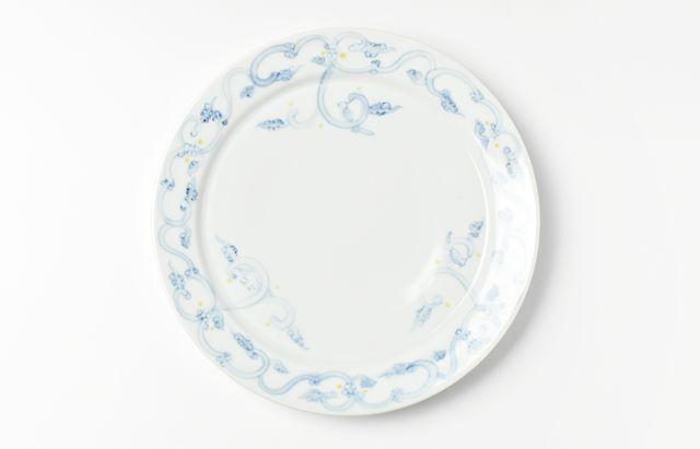 稲村真耶 鳥三羽7寸リム皿