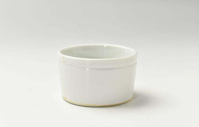 稲村真耶 乳白釉筒豆鉢