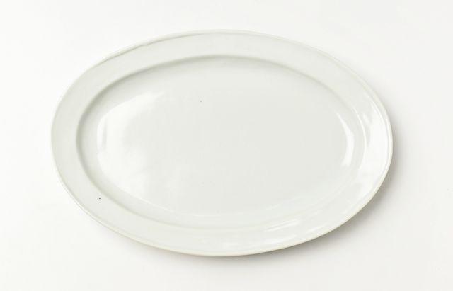 稲村真耶 白磁リム8.5寸楕円皿