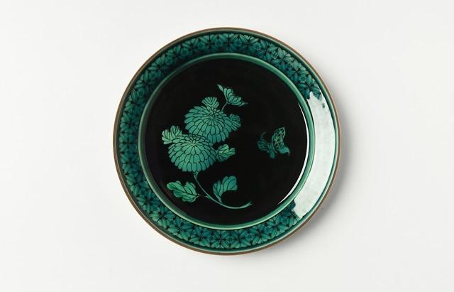 池島直人 青手菊文5.5寸皿