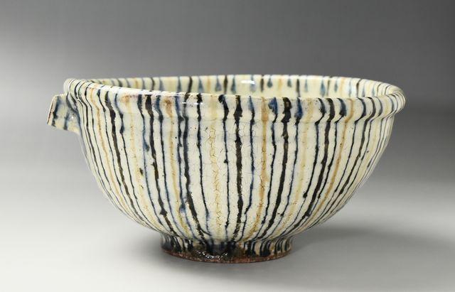【一点もの】杉本太郎 ◆盛鉢 片口 シマ紋35