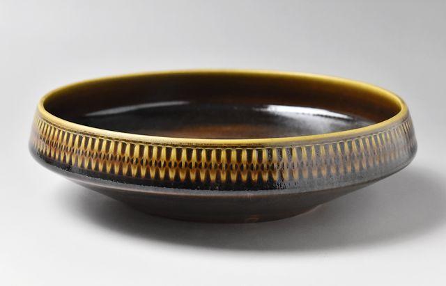 増渕篤宥 ◆褐釉レトロン深鉢(7号)9