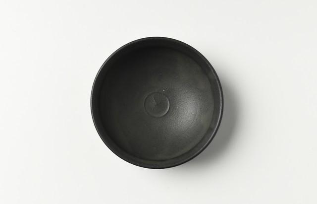 荒賀文成 黒釉馬盥小皿【H】