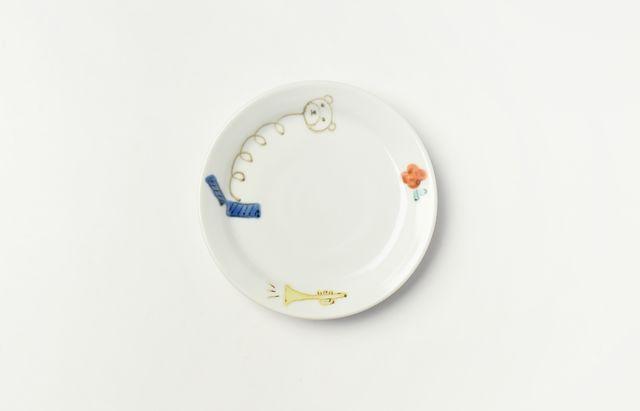 中町いずみ 色絵リム3.5寸皿(おもちゃ箱)
