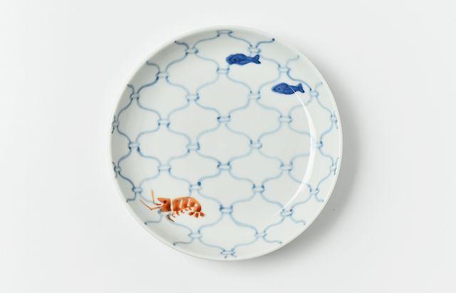 中町いずみ 5寸皿(網)