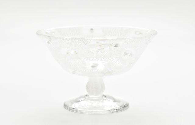 【一点もの】みずのみさ 10B◆モザイク足付デザートグラス