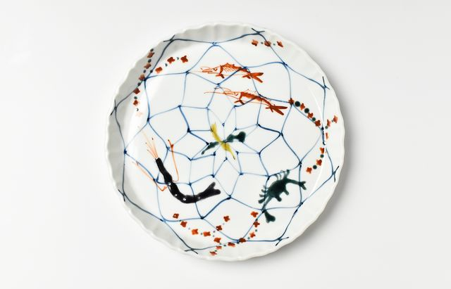 中荒江道子 網魚6寸皿