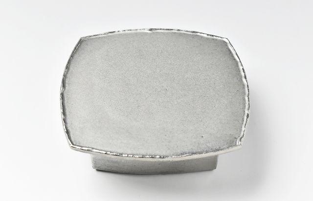 松本優樹 高台付菓子皿(パラジウム)