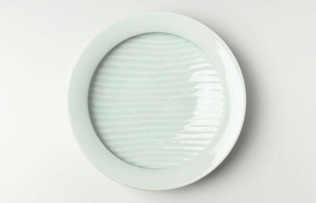 大沢和義 白磁カレー皿(大)
