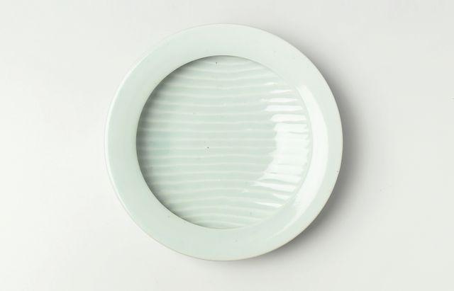 大沢和義 白磁カレー皿(中)