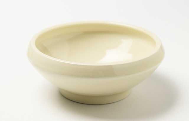 大沢和義 黄磁折縁大碗