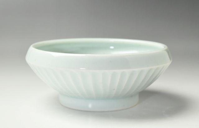 大沢和義 白磁折縁大碗