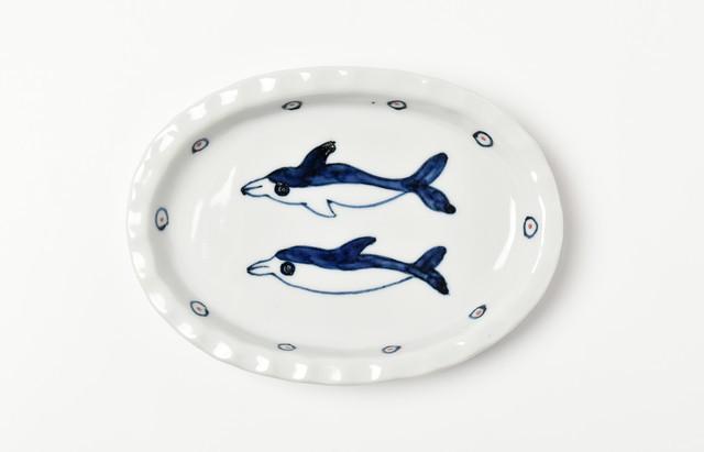 林京子 おやつプレート イルカの友達