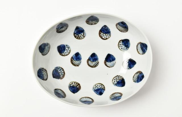 林京子 楕円鉢(大) どんぐりたくさん