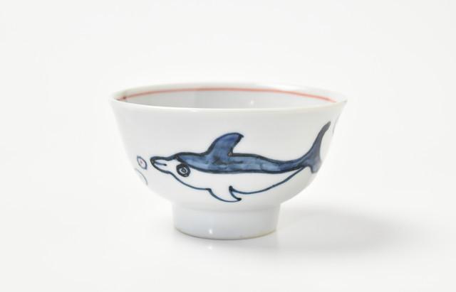 林京子 ごはん茶碗 イルカの友達