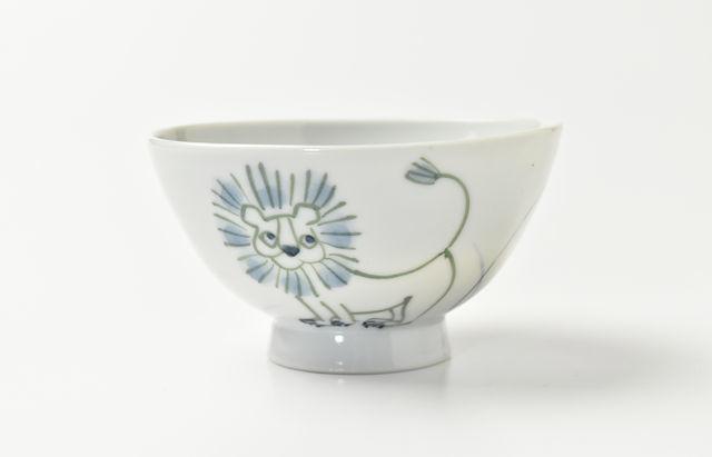 林京子 ごはん茶碗 草原にライオン