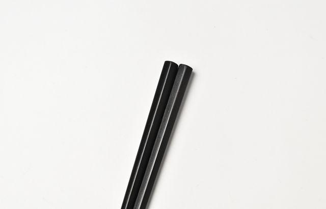 花田 こども五角箸(黒)