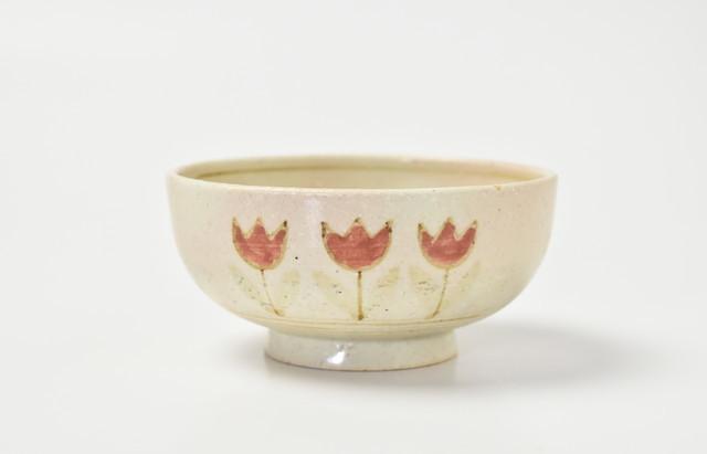 小川佳子 ご飯茶碗(小)チューリップ