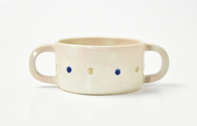 小川佳子 スープカップ さくらんぼ(青)