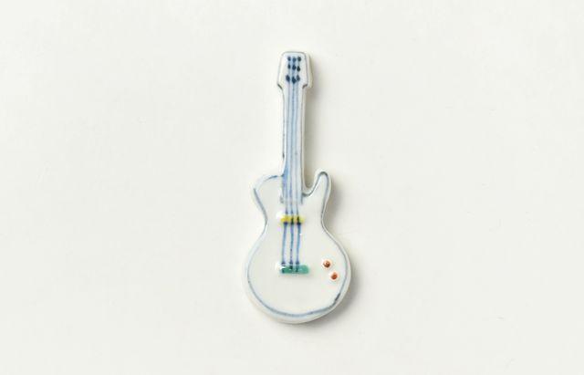 重田良古 箸置 エレキギター