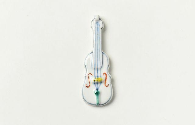 重田良古 箸置 バイオリン【H】