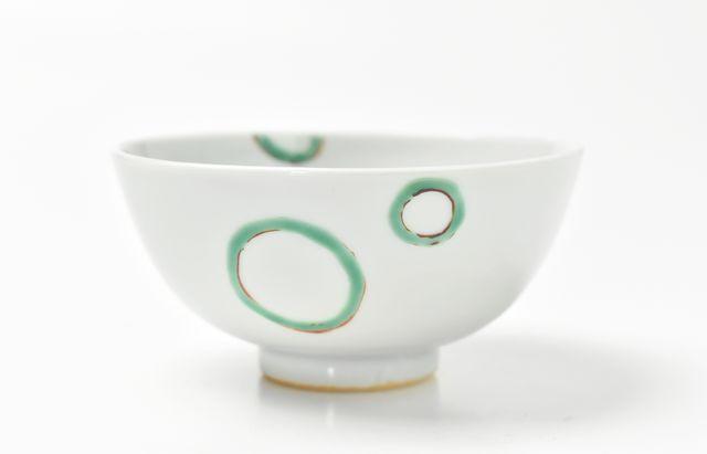 須谷窯 こども飯碗 色絵水玉