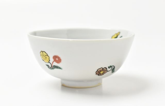 須谷窯 こども飯碗 色絵小花