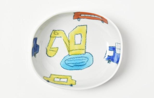 村田菜穂美 楕円小鉢 くるま