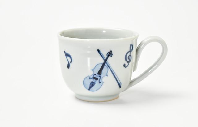 海野裕 マグカップ バイオリン