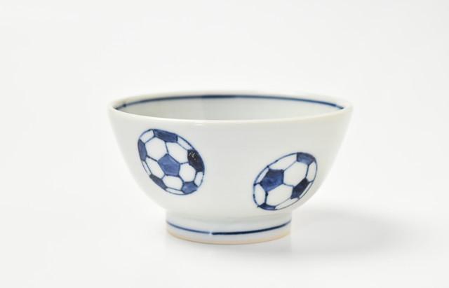 海野裕 ご飯茶碗 サッカー