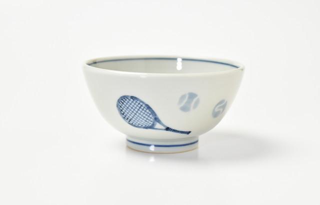 海野裕 ご飯茶碗 テニス