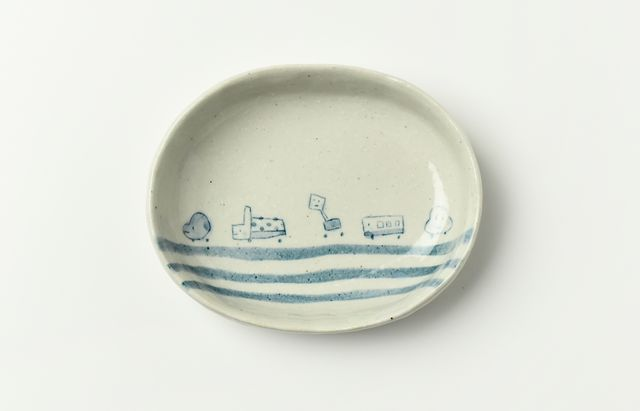 田部桃子 楕円皿くるま