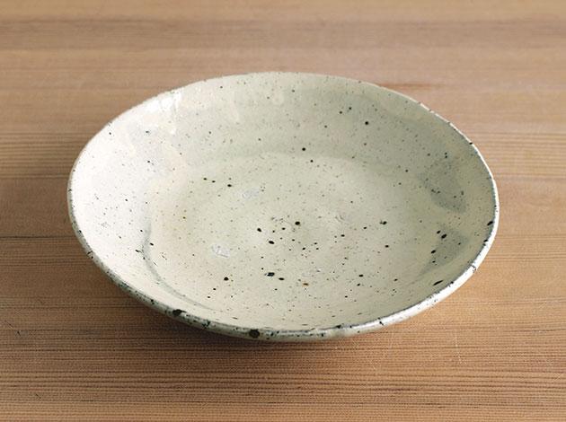 芳賀龍一 白化粧平鉢