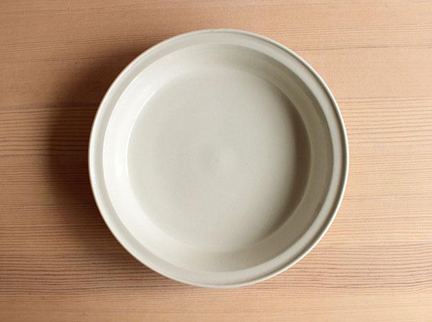 伊藤叔潔 白磁7寸リム鉢