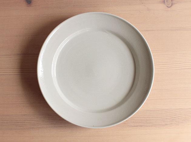 伊藤叔潔 白磁8寸リム皿