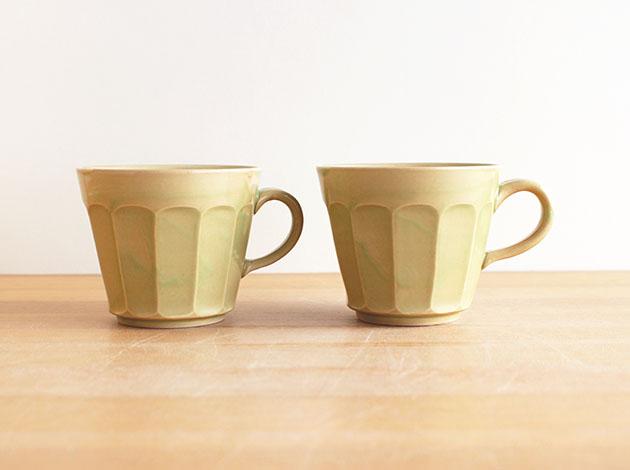 阿部春弥 もえぎ面取りコーヒーカップ