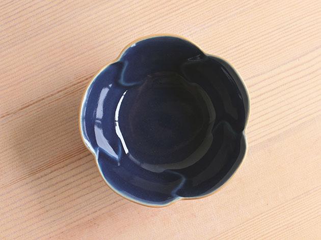廣政毅 錆抜きルリ花形小鉢