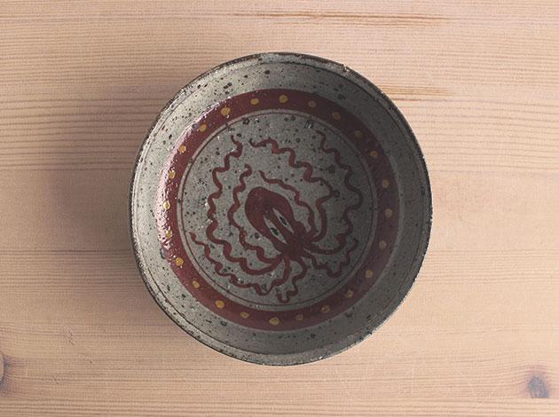 沼田智也 蛸文5寸どら鉢