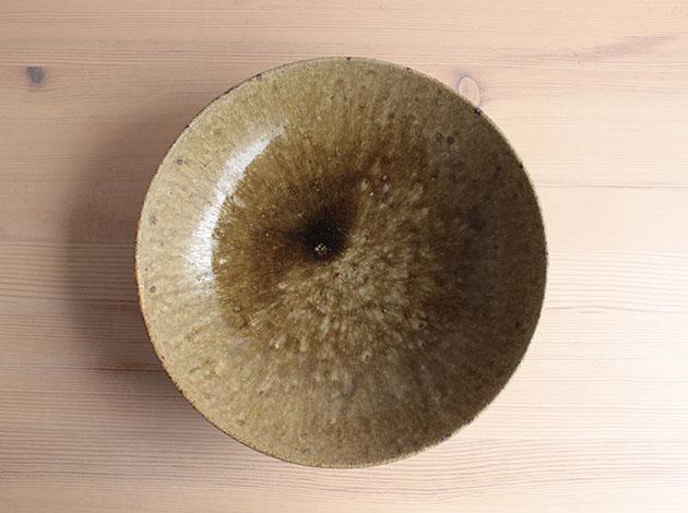 馬野真吾 ヒノキ灰8寸鉢