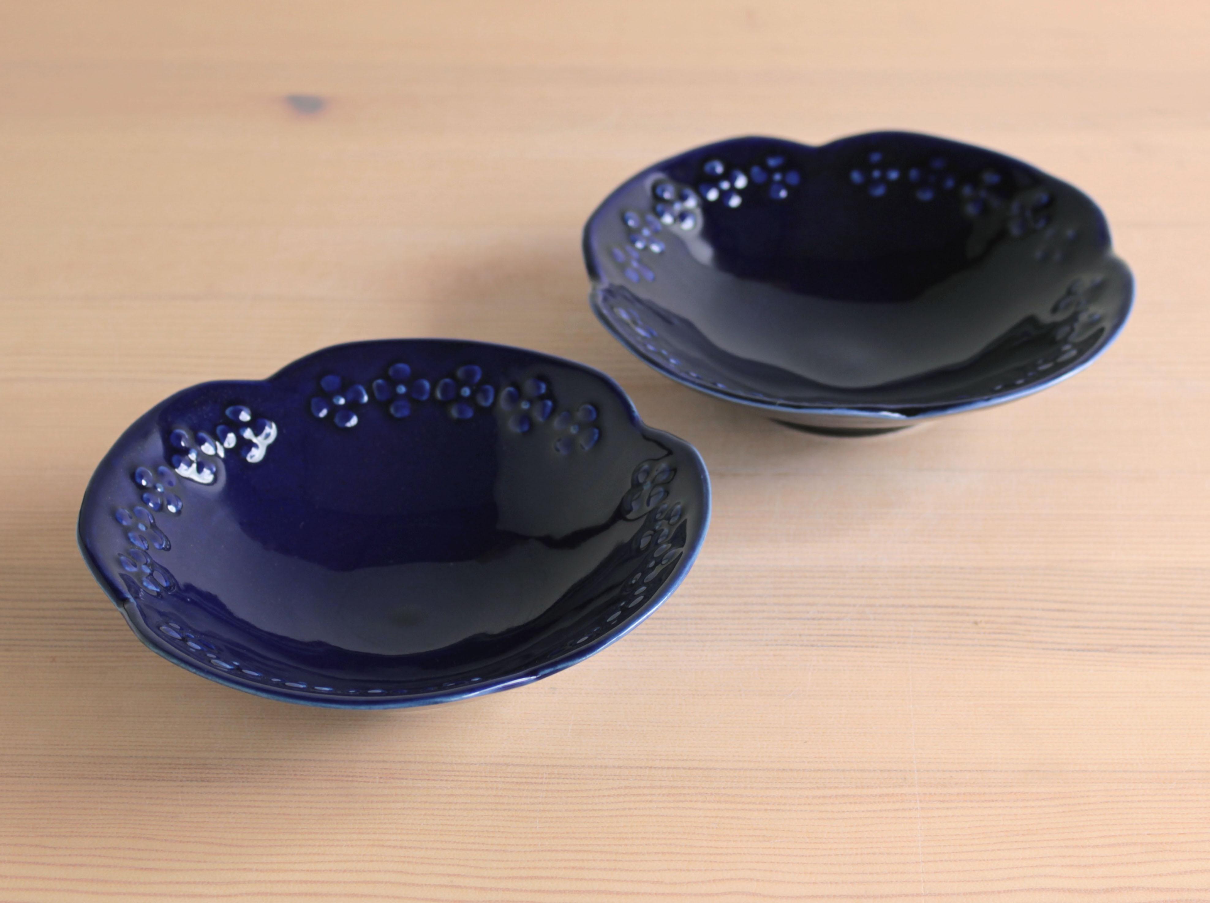 大塚温子 ルリレリーフ鉢(大)