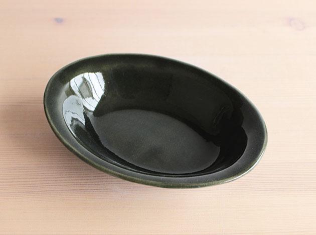 矢口桂司 呉洲釉カリーオーバル(大)