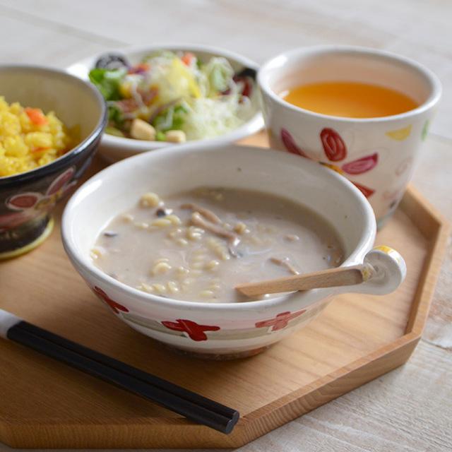 和食器 色絵スープカップ 作家「吉岡萬理」