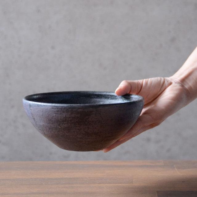 和食器 鉄彩丸鉢(中) 作家「吉岡萬理」