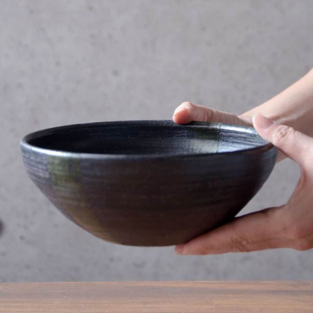 和食器 鉄彩丸鉢(大) 作家「吉岡萬理」