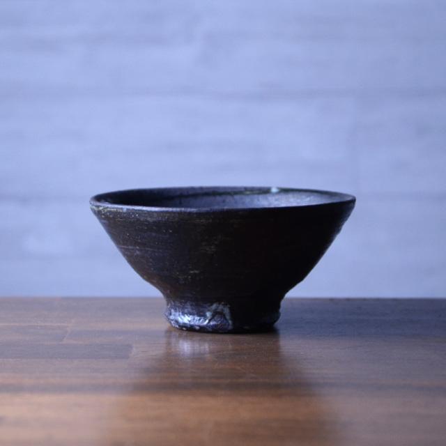 鉄彩飯碗 作家「吉岡萬理」