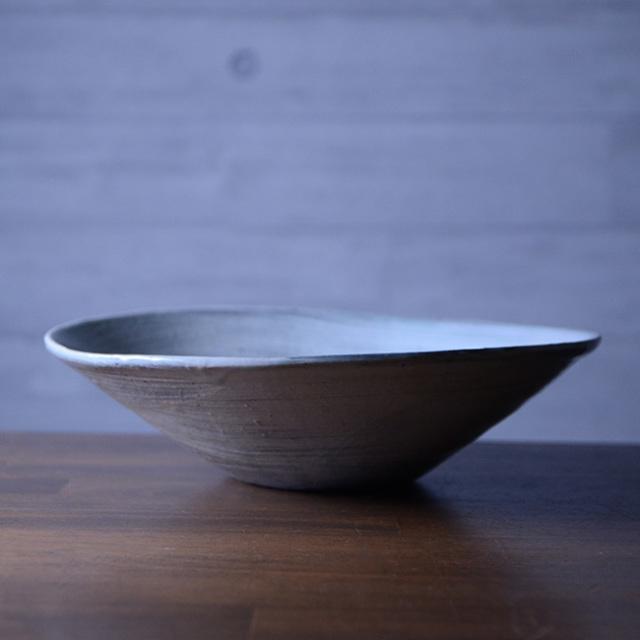 刷毛目楕円鉢 作家「吉岡萬理」