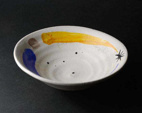 色絵楕円小鉢 作家「吉岡萬理」