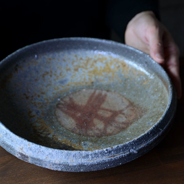 備前焼八寸鉢(CR-016) 作家「クリストファーレイヴェンホール」