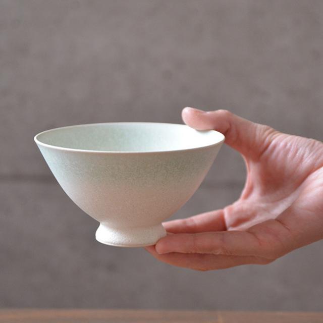 和食器 白翠結晶飯碗  作家「中村譲司」