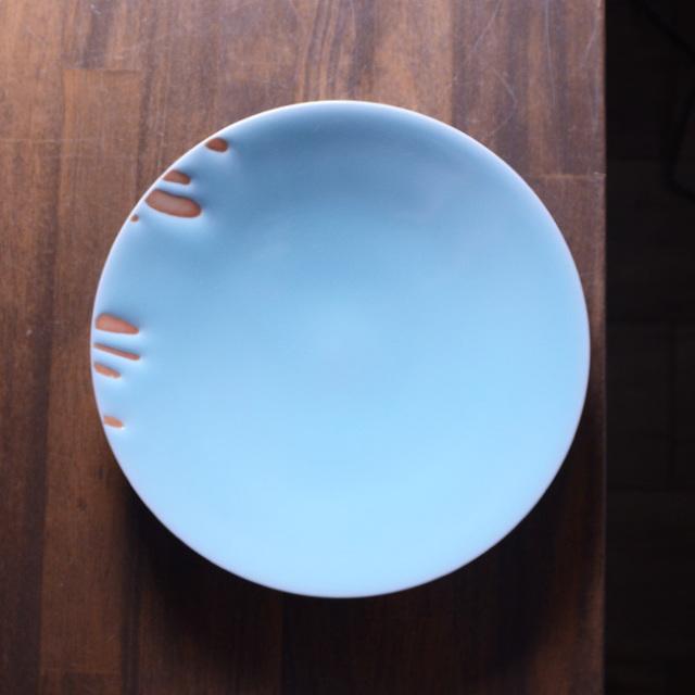 青白磁皿  作家「市川博一」